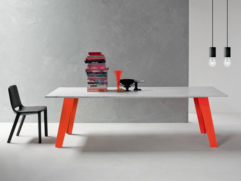 Rectangular marble table WELDED - Bonaldo