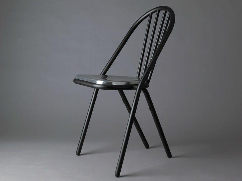 Stackable aluminium chair SURPIL | Aluminium chair by DCW éditions