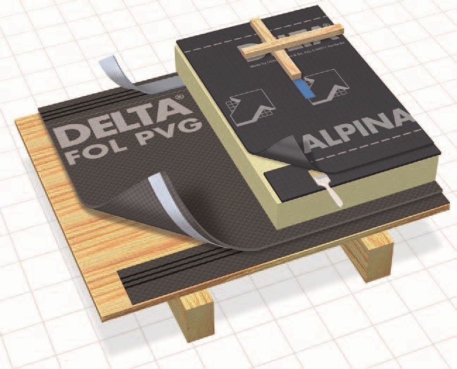 Breathable and protective sheeting DELTA®-ALPINA - DÖRKEN ITALIA