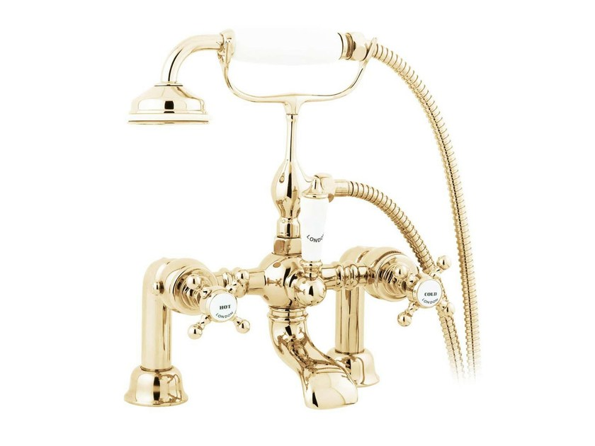 Brass bathtub tap with hand shower MAYFAIR | Bathtub tap by GENTRY HOME