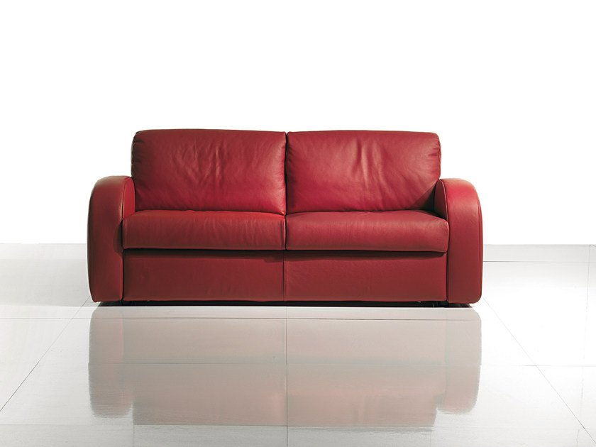 2 seater leather sofa bed SIMPLY CLASSIC by Bodema