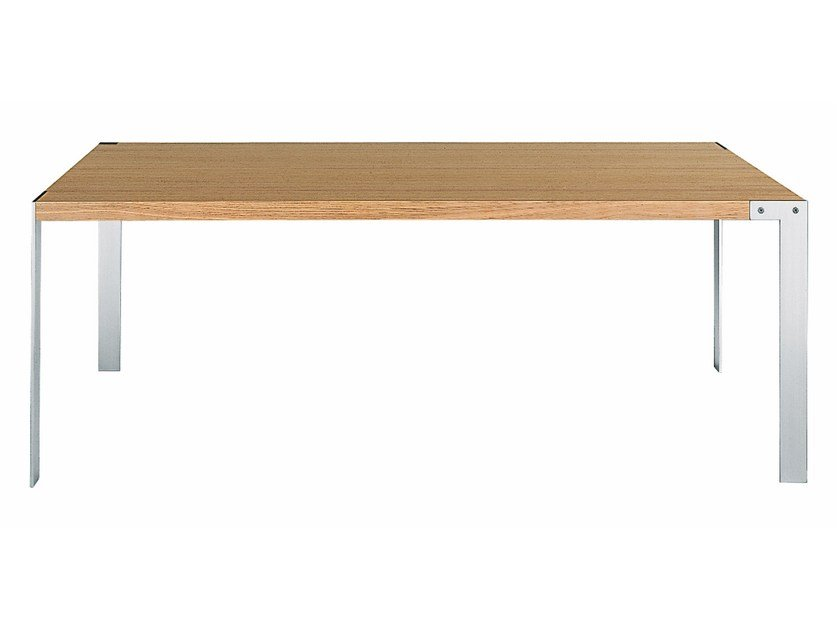 Rectangular steel and wood table LIKO | Steel and wood table by Desalto
