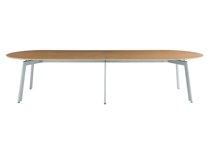 Oval oak Lecture table