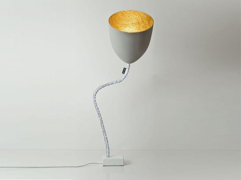 Cement floor lamp