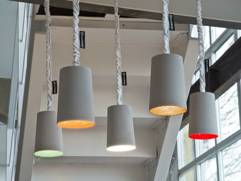 Resin pendant lamp PAINT CEMENTO by In-es.artdesign