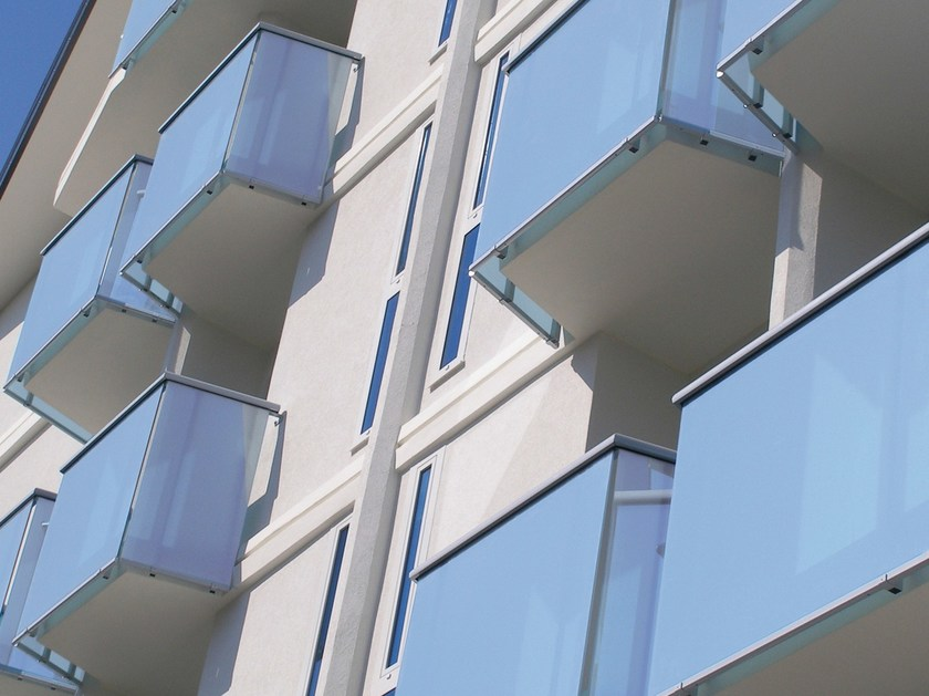 Glass and aluminium balustrade ALL LUX - SIAMESI by CASA ITALIA