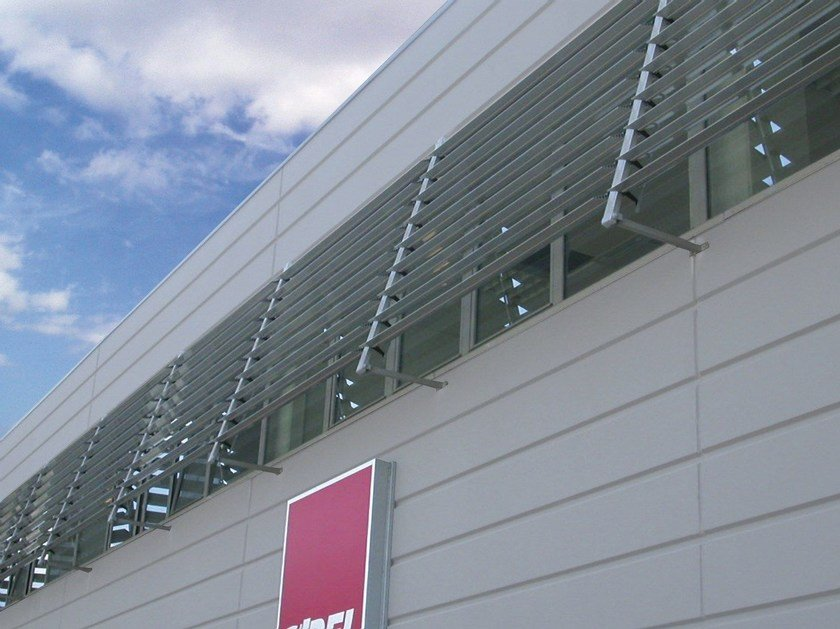 Steel and PVC solar shading ECO FIX by Siamesi