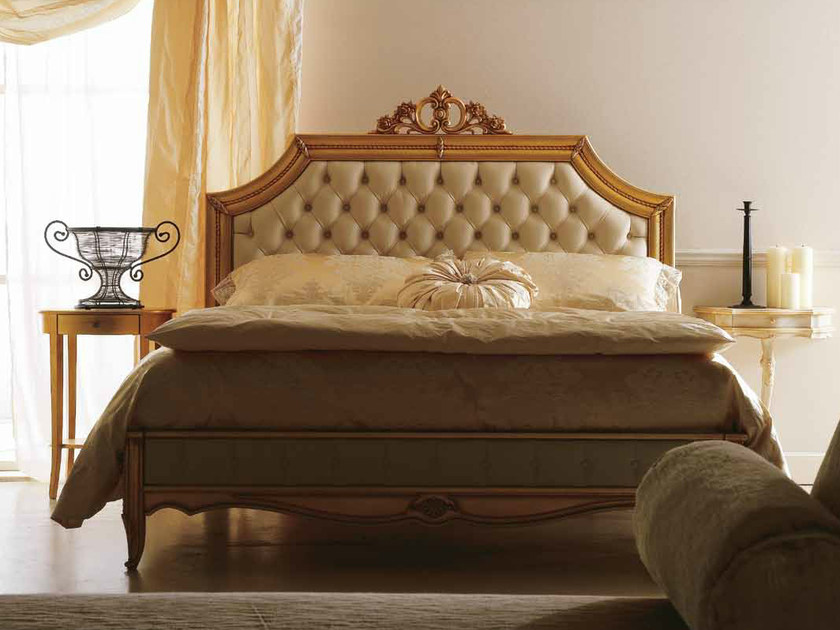 Double bed with upholstered headboard INES by CorteZari
