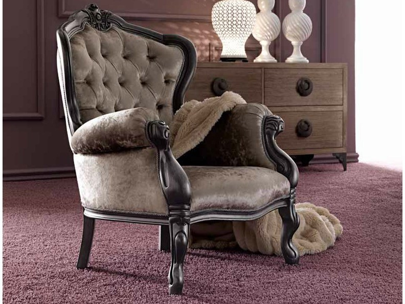 Upholstered armchair with armrests GEMMA by CorteZari
