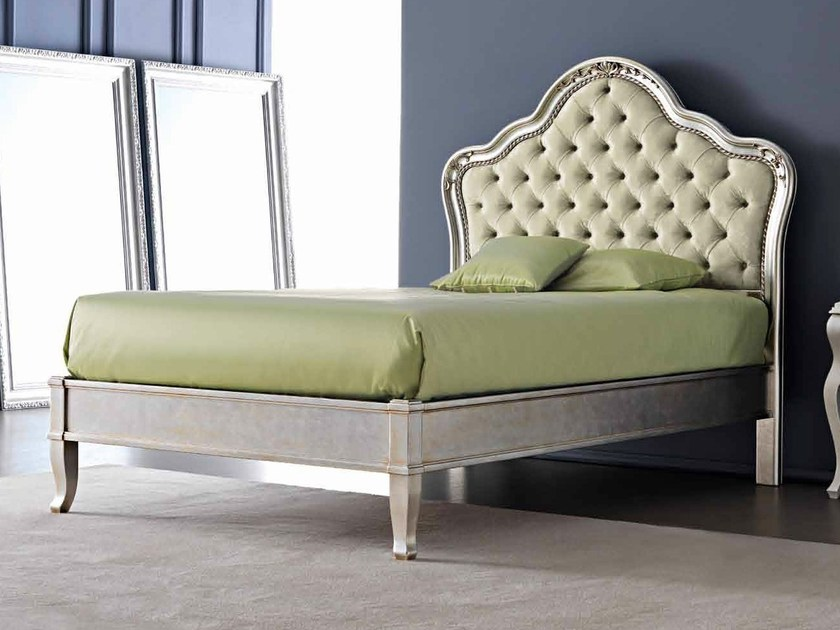 Full size bed with upholstered headboard GEMMA by CorteZari