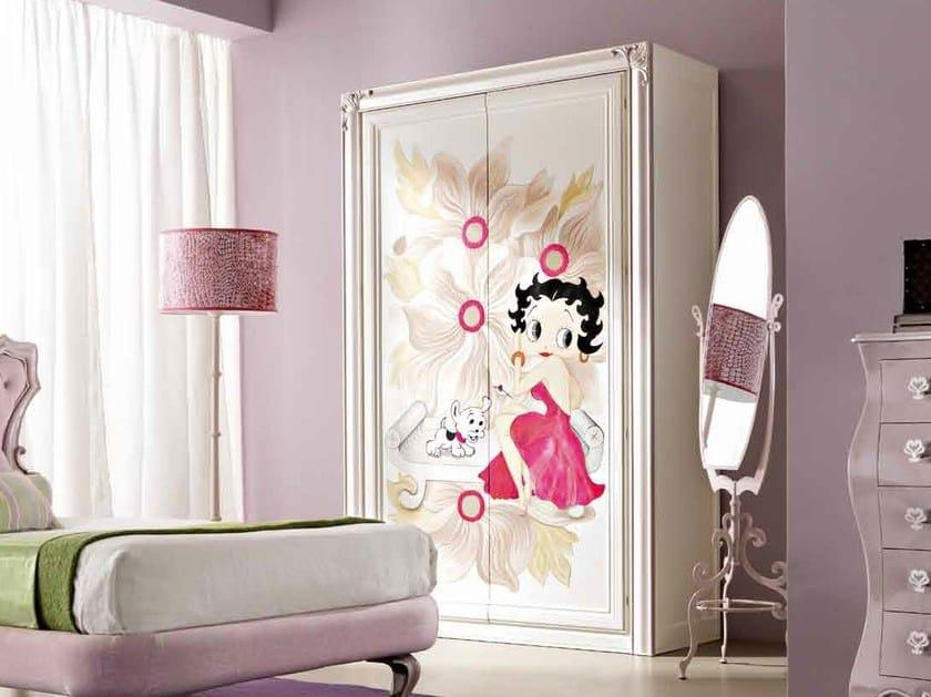 Wooden wardrobe for kids' bedrooms CLARA by CorteZari