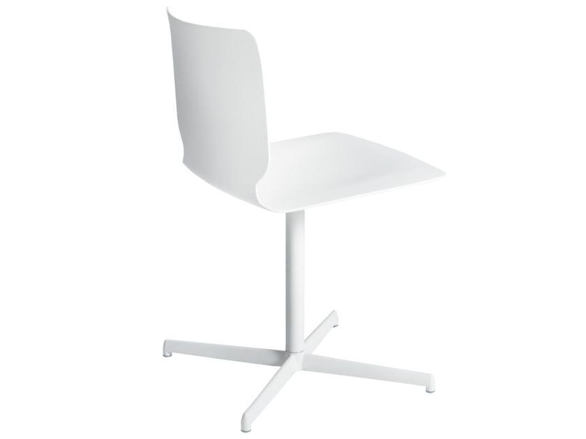 Polypropylene restaurant chair HOLM | Chair with 4-spoke base - Desalto