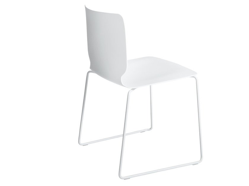 Sled base polypropylene chair