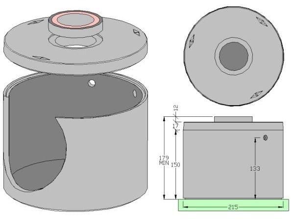 Basin, cistern and tank for water works Basin Lt 3.600 - ALDO LARCHER