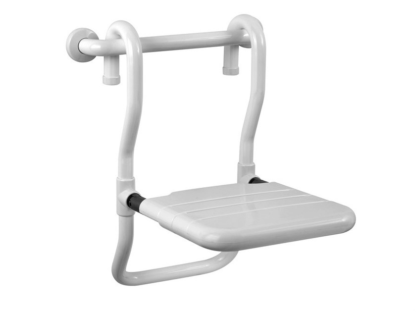 Folding removable steel shower Seat TUBOCOLOR   Removable shower Seat by Ponte Giulio