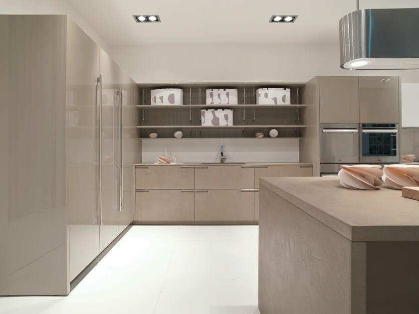 Cucina con finitura cemento noblesse cucina in mdf - Cucine in cemento ...