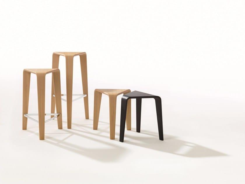 High oak stool