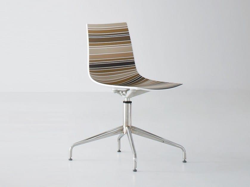 Technopolymer chair with 4-spoke base