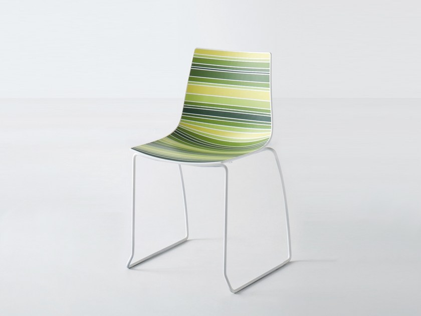 Sled base technopolymer chair COLORFIVE S by GABER
