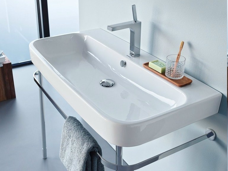 Console ceramic washbasin HAPPY D.2 | Console washbasin - DURAVIT