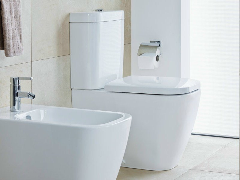 close coupled ceramic toilet happy d2 close coupled toilet by duravit