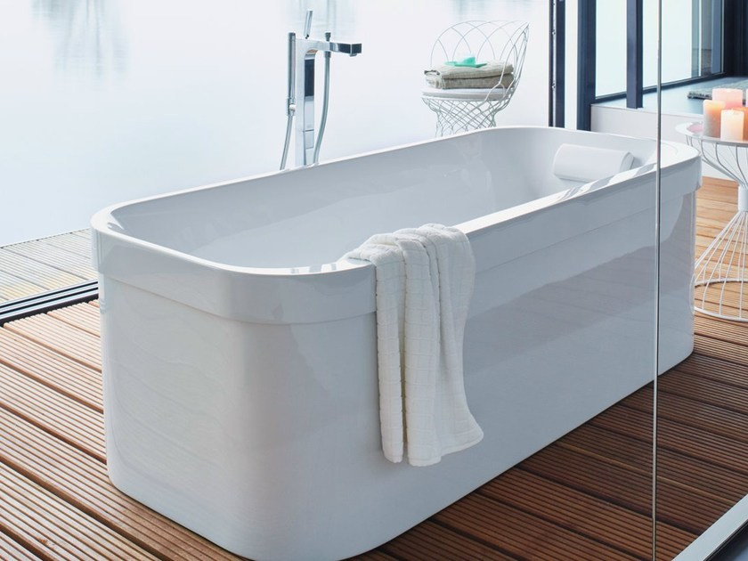 Freestanding oval acrylic bathtub HAPPY D.2 | Freestanding bathtub - DURAVIT