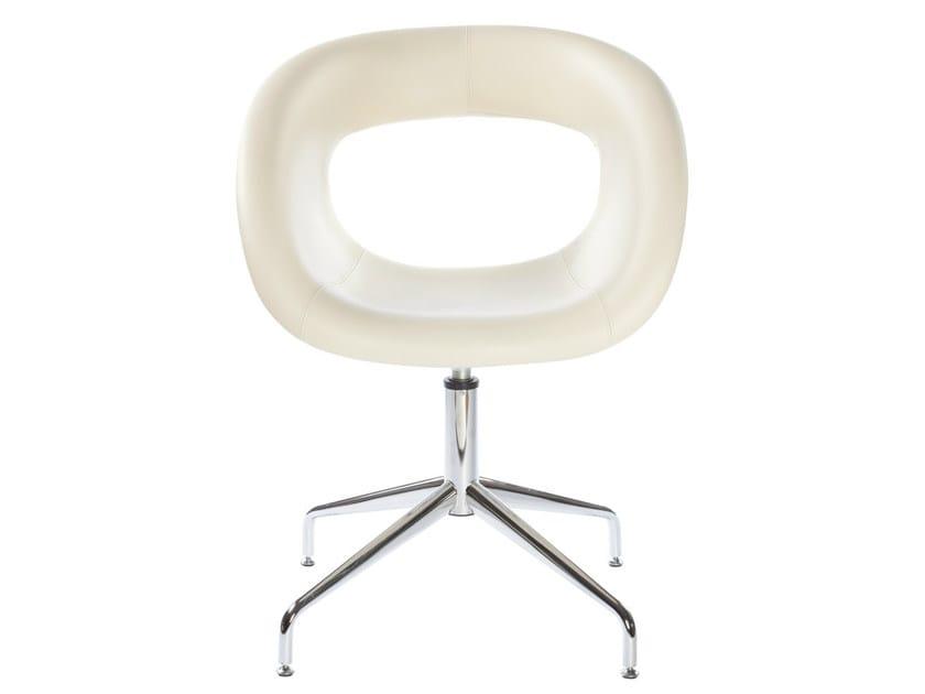 Swivel leather easy chair MOEMA 75 NAL - GABER