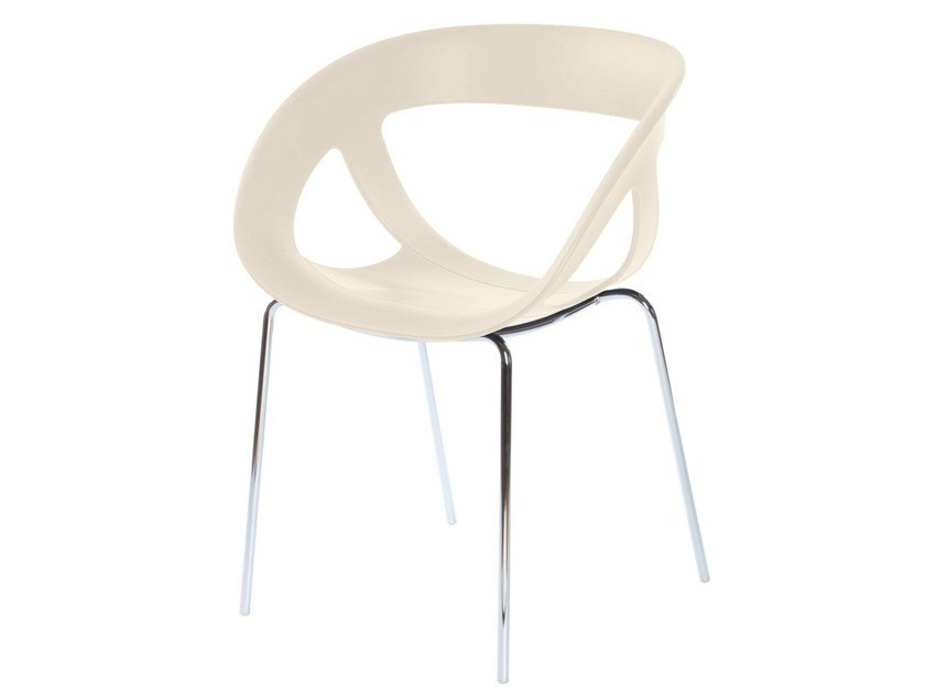 Stackable technopolymer chair with armrests MOEMA 69 by GABER