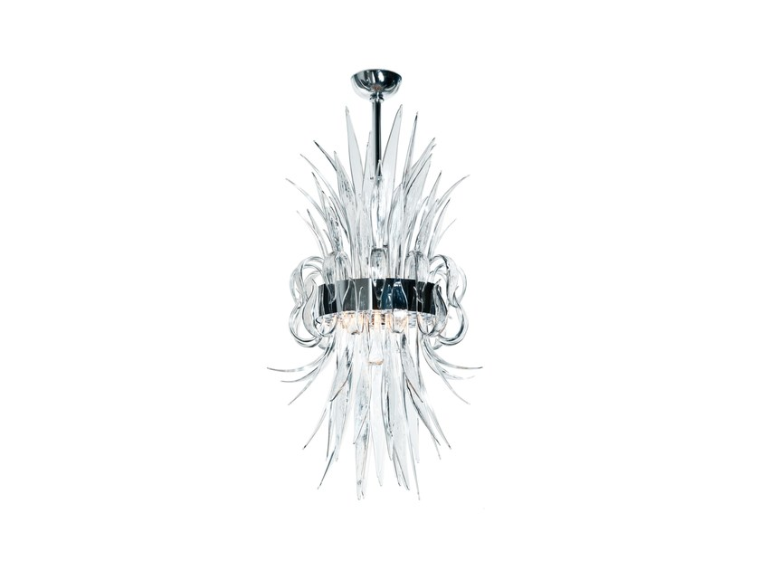 Murano glass pendant lamp NARCISSE by Veronese