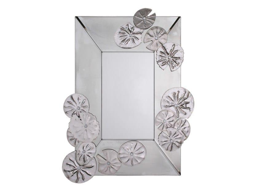 Wall-mounted rectangular mirror NYMPHÉAS - Veronese