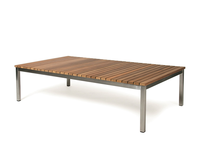 Low Rectangular teak garden table