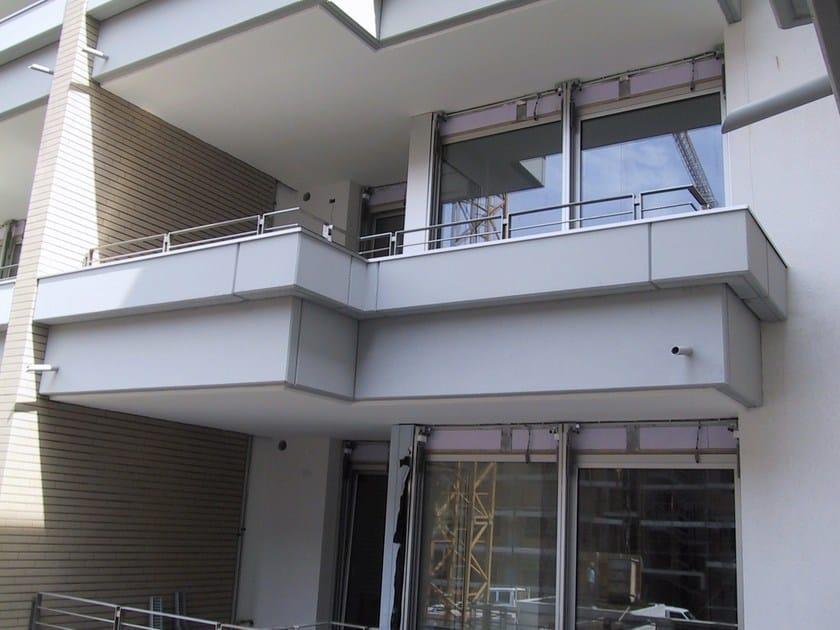 Fioriera in cemento fioriera sez 47x40h con incastro by for Jardineras para balcones