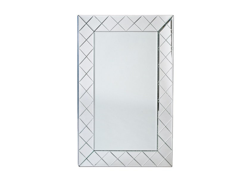 Wall-mounted rectangular mirror ILLUSION by Veronese