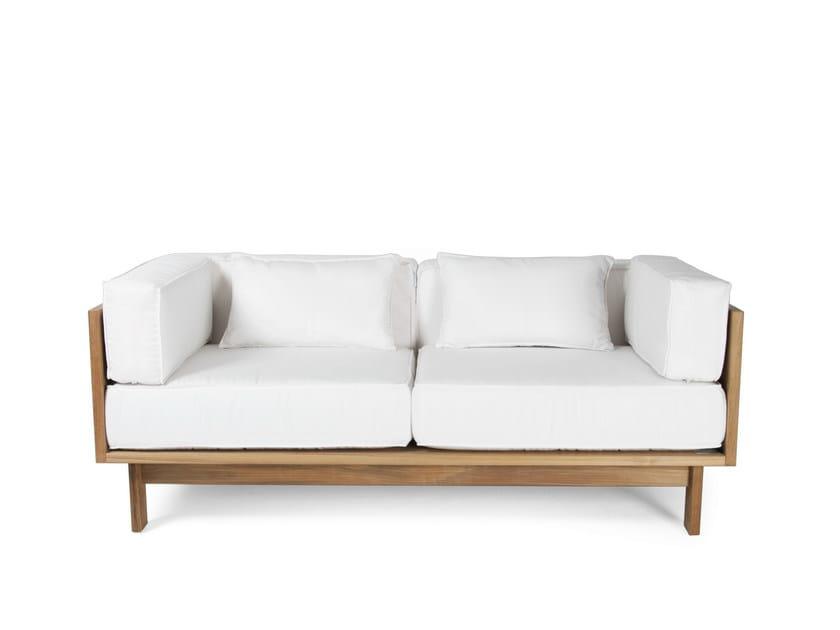 divano da giardino imbottito in teak falsterbo   divano da