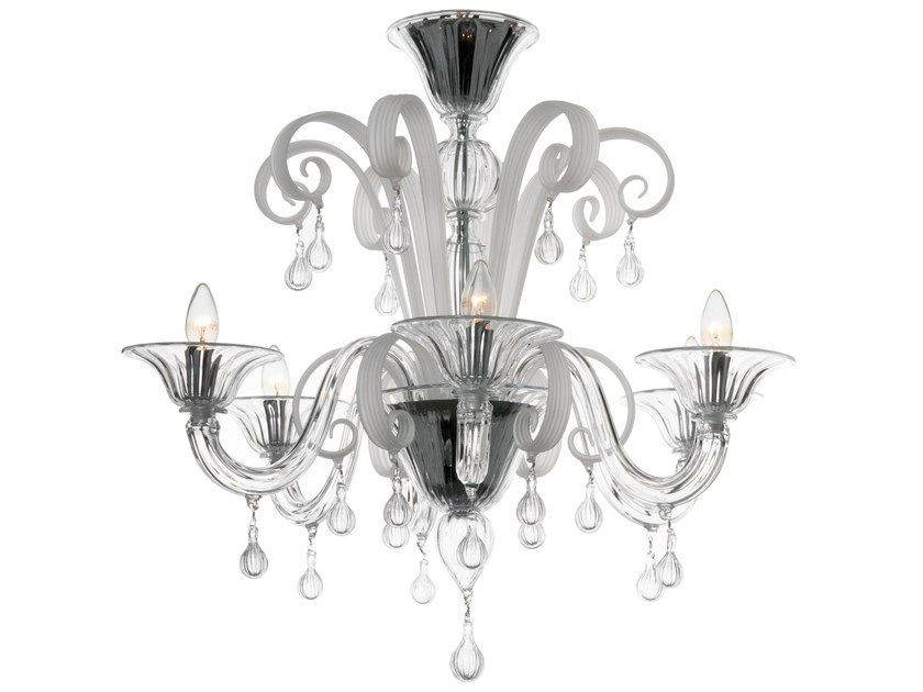 Murano glass chandelier SOIE by Veronese