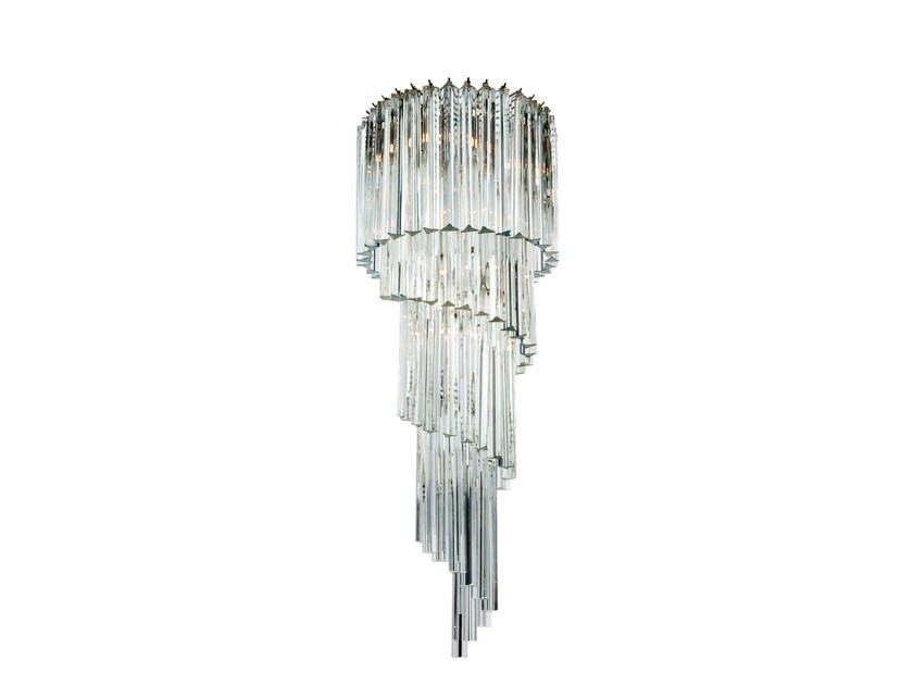 Murano glass chandelier SPIRALE by Veronese