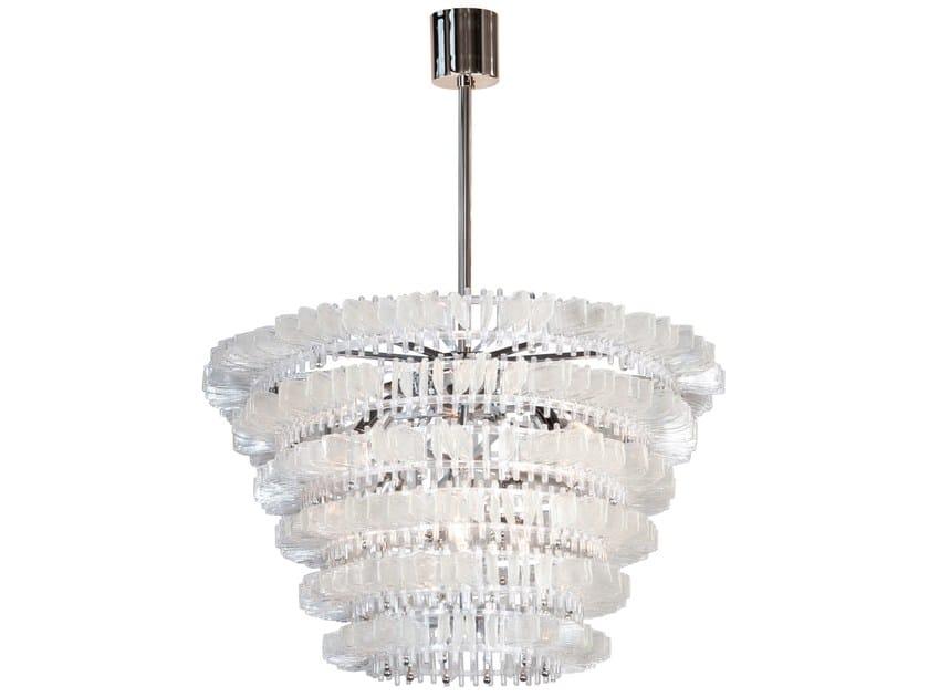 Murano glass chandelier ANEMONE | Chandelier by Veronese