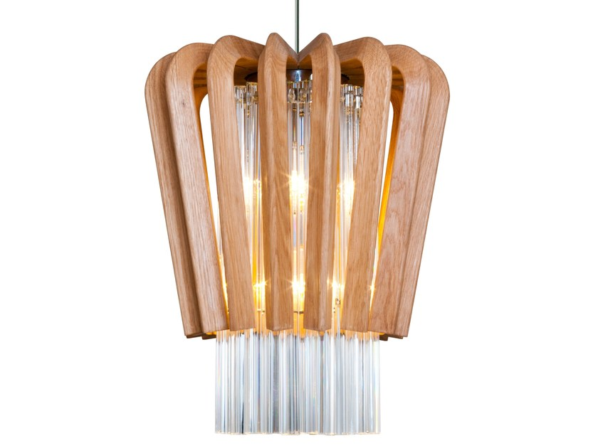 Wooden pendant lamp ULIO by Veronese