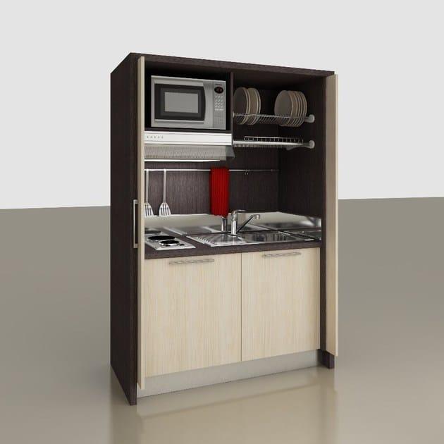 Minicucina a scomparsa zeus k122 mobilspazio - Strutture mobili cucina ikea ...