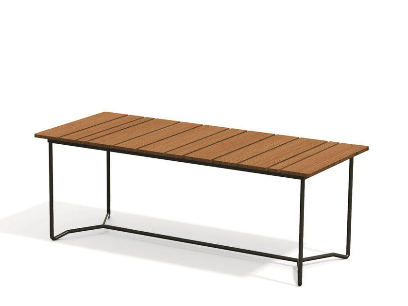 Rectangular teak garden table