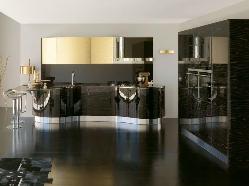 Gold leaf kitchen