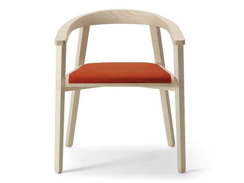 Ash easy chair with armrests PLUG | Easy chair - CIZETA