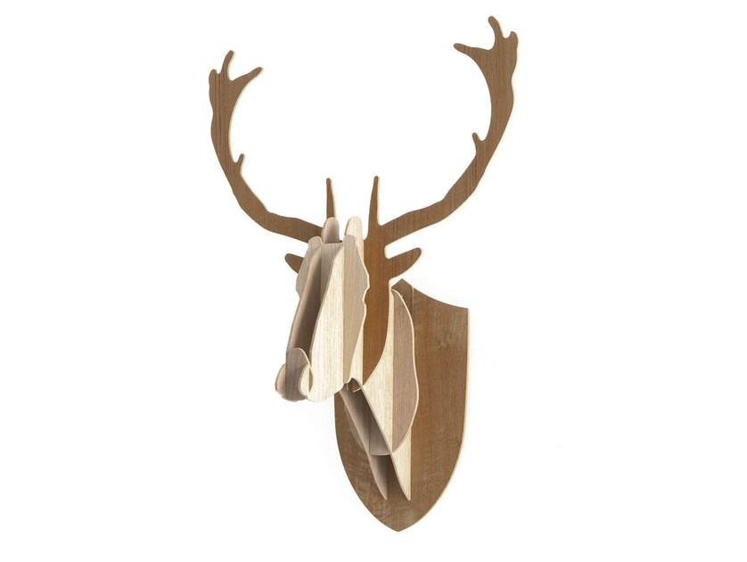 Wooden wall decor item DEER - Moustache