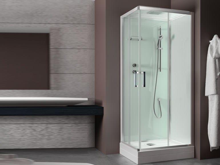 Cabina doccia rettangolare con porta scorrevole evobasic - Porta cabina doccia ...