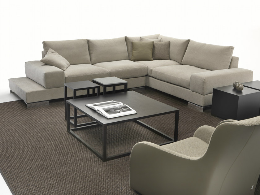 Sectional corner fabric sofa