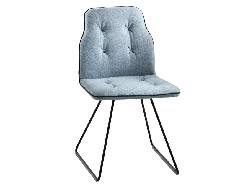 Sled base upholstered chair