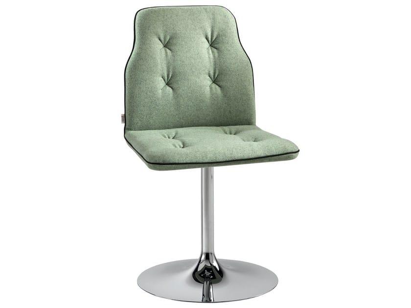 Upholstered chair on trestle base