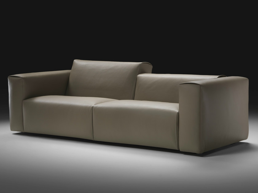 Recliner 2 seater leather sofa