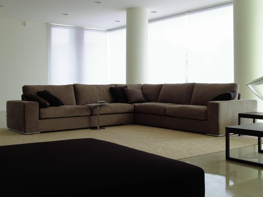 Sectional modular fabric sofa