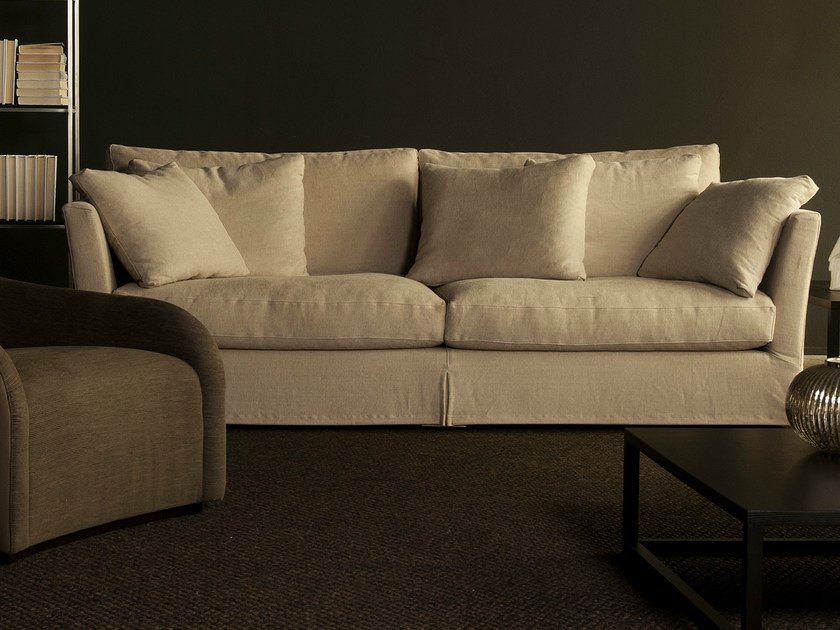 Sectional modular fabric sofa